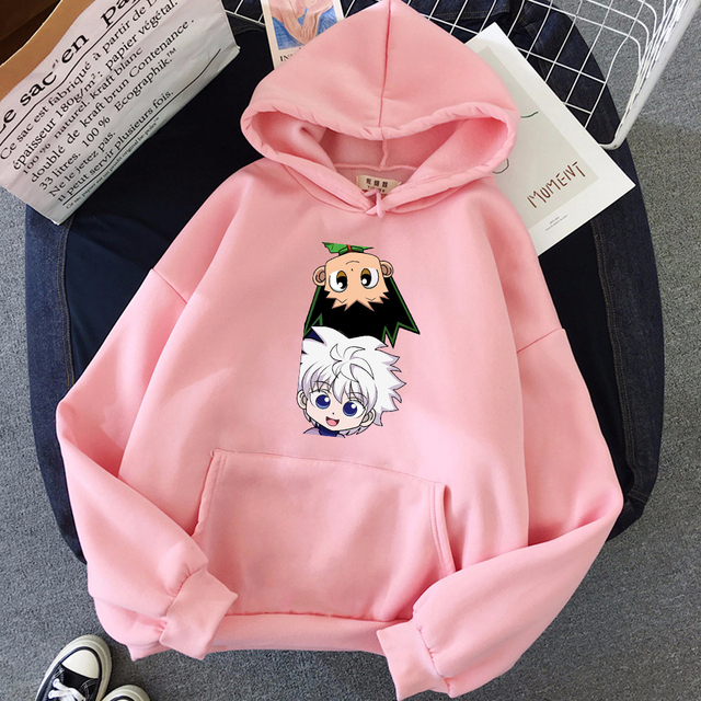 Hot Japanese Anime Hunter x Hunter Hoodies Killua-GON FREECSS Printed Top Women Kawaii Clothes Graphic Casual Hooded Streetwear 6