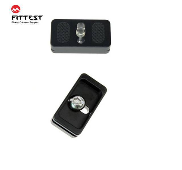 2pcs/lot FITTEST FP 20 Universal Quick Release Plate W Rubber Cushion 20mm Mini Plate For Compact Camera Canon Fujifilm Olympus