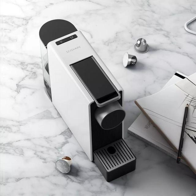 New Xiaomi SCISHARE Mini Smart Automatic Capsule Coffee Machine Free 20 Imported Capsule Coffee For Home Office 4