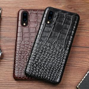 Image 3 - Skórzany futerał na telefon do Xiaomi Redmi Note 9 S 8 7 6 5 K30 Mi 9 se 9T 10 Lite A3 Mix 2s Max 3 Poco F1 X2 X3 F2 Pro krokodyl