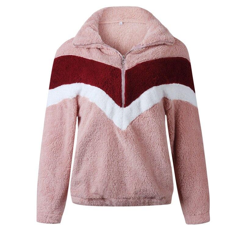 Модные женские зимние топы с длинным рукавом, теплые флисовые куртки на молнии и пальто, элегантная женская верхняя одежда, пуловер veste femme, у...