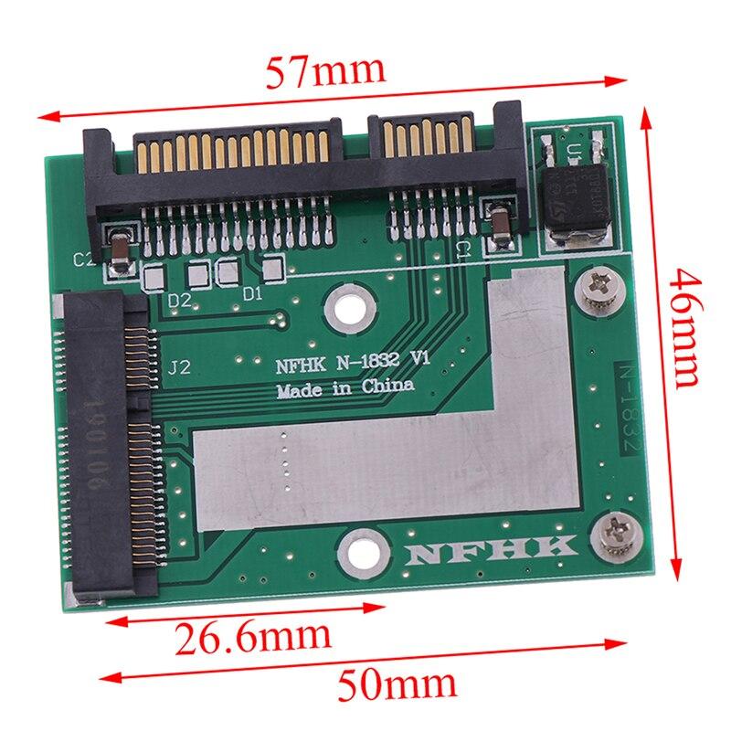 MSATA SSD на 2,5 дюйма SATA 6.0gps адаптер преобразователь карта Модульная плата Mini Pcie Ssd оптовая продажа 2020