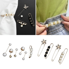 Dresses Collar Scarf Cardigan Clips Shawl Brooch Sweater Shirts Jewelry Safety-Pins Faux-Pearl-Beads