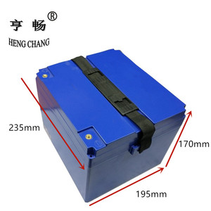 Image 2 - 12V 24V 36V 48V 60V 20Ah/30Ah LiFePo4 LiMn2O4 LiCoO2  battery stroage box Plastic case For Electric motorcycle ebike