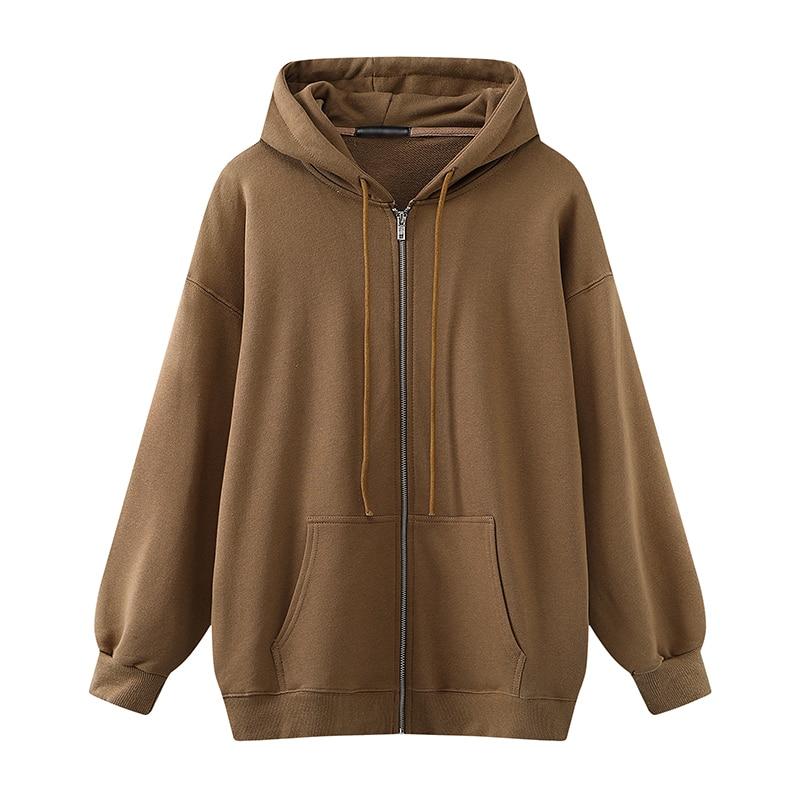 Thick Hoodies Outfits Oversize Streetwear Boyfriend Fleece Girls Sweet Women Fashion