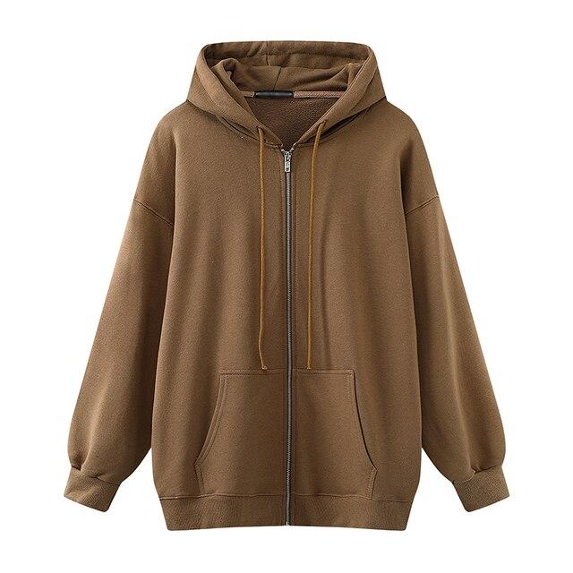 Oversize Girls Thick Hoodies 2021 Spring Fashion Ladies Streetwear Fleece Outfits Y2K Boyfriend Loose Hoodies Unisex Women Chic 4