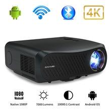 CAIWEI 풀 HD 프로젝터 A12 네이티브 1080P 안드로이드 2G + 16G 듀얼 와이파이 LED 프로젝터 비디오 비머 3D 홈 시어터 프로젝터