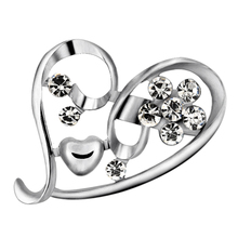 Heart Brooch for Women's Accessories Brooches for Women Jewelry Luxury Brooch Pins Vintage Brooches Large Badge Metal Halloween simulated pearl brooch pins metal pins for clothes vintage women s brooch for clothes crystal brooches for women jewelry luxury