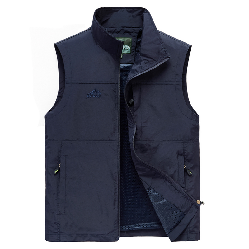 Men's Vests New Arrival Men Sleeveless Vest Summer Spring Autumn Casual Travels Vest Outdoors Multi-pockets Vest Waistcoat Male