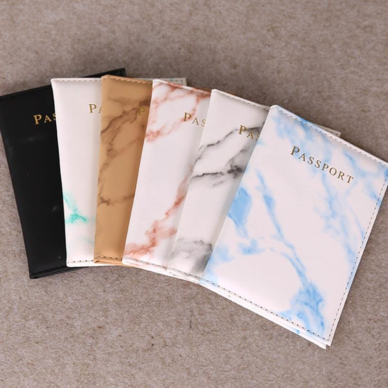 High Quality Passport Packet Unisex Colorful Marble Passport Cover Waterproof Passport Holder Travel Cover Case Passport Holder