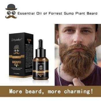 Top 30ml Pro Men Beard Growth Enhancer Liquid Facial Nutrition Moustache Grow Beard Shaping Tool Beard Oil 5