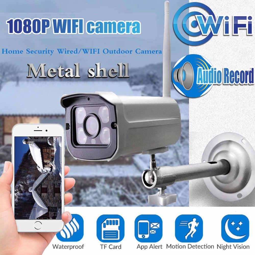 HD 1080P 720P Camera IP Wifi Chống Nước ONVIF Không Dây P2P Camera Quan Sát Viên Đạn Camera Ngoài Trời Miscrosd Khe Cắm Thẻ max 64G YOOSEE Siêu Nét