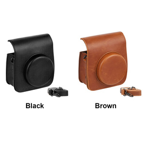 Image 4 - Protective Case Casual Pouch Accessories PU Leather Cover Dustproof Shoulder Strap Crossbody Mini Camera Bag For Instax Mini 90