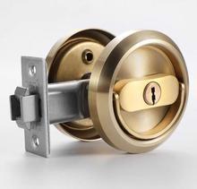 Balcony sliding door lock concealed indoor hidden invisible privacy pull ring lock bedroom interior storage room door lock w/key
