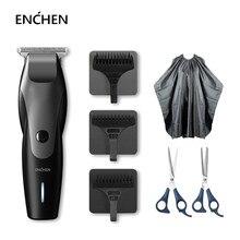 ENCHEN-cortadora de pelo eléctrica con USB, profesional, colibrí, recargable, inalámbrica, de bajo ruido, recortador de pelo con 3 peines