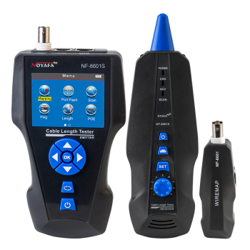 Noyafa NF-8601S Multifunction TDR Measure Length Network Cable Tester With PoE/PING/Port Flash Function Voltage Detector 1