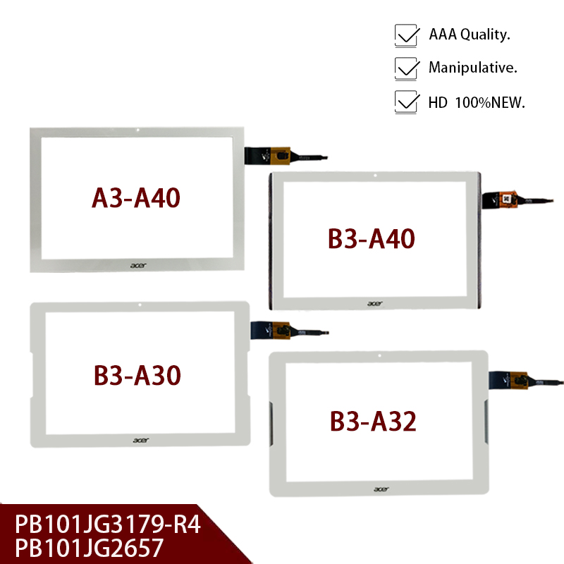 For Acer Iconia One 10 Capacitive Touch Screen PB101JG3179-R4 PB101JG2657 B3-A30 B3-A40 B3-A32 A3-A40 Glass Digitizer Sensor