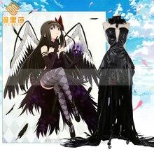 Anime Puella Magi Madoka Magica Akemi Homura Devil Black Cos