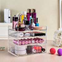 Home Storage & Organization makeup organizer Home Office Transparent acrylic multilayer drawer Desktop Cosmetics organizer