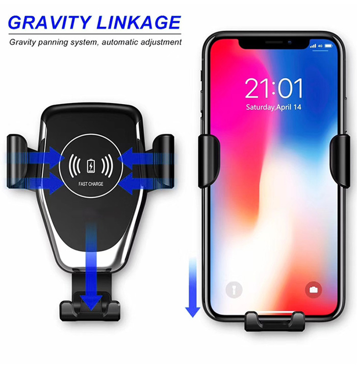 Car Wireless Fast Charging Stand Holder for iPhone 11 Pro Max Xs 8 USB Car Wireless Quick Charger Bracket for Samsung S20 S10 S9