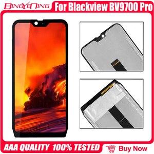 Image 4 - 100% oryginalny 5.84 cal dla Blackview BV9700 Pro LCD i ekran dotykowy Digitizer z wyświetlanie ramki moduł naprawa wymiana części