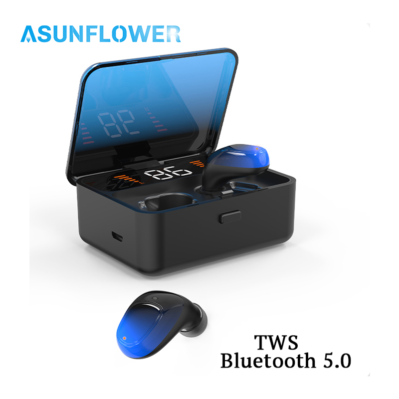 <font><b>TWS</b></font> Bluetooth Earphone V5.0 For iPhone <font><b>11</b></font> Pro MAX XR XS <font><b>Touch</b></font> Wireless Earbuds 9D Stereo Sport Waterproof LED Power display image
