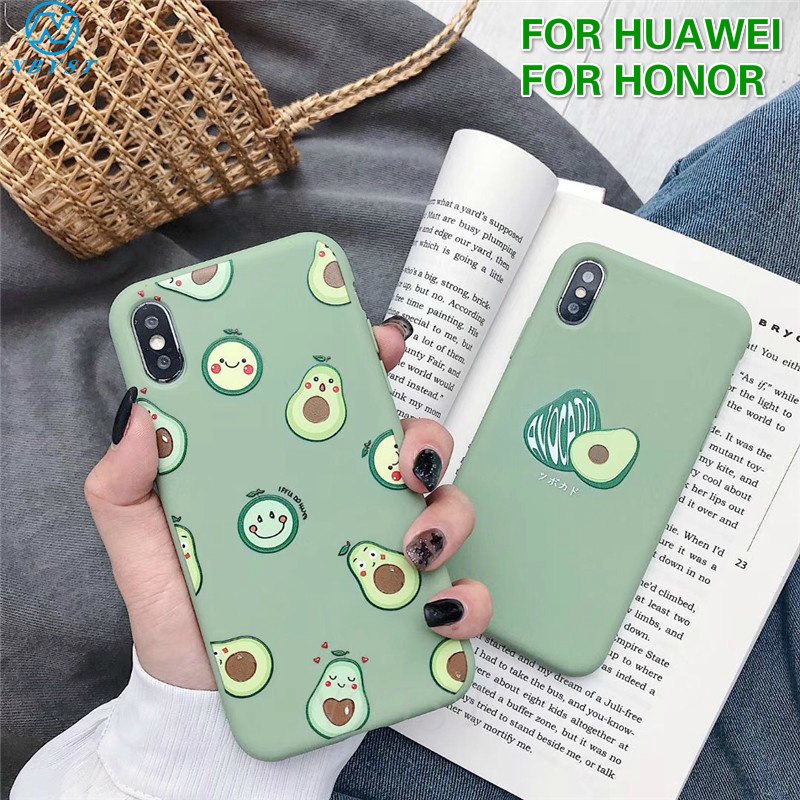 Lovely Avocado Phone Case For Honor 10 Lite 20i 10i 20S 8X 7X Soft Silicon Case For Huawei P30 Pro P20 P10 Mate 30 20 Nova 5T 3i