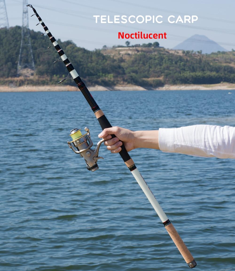 3.6//3.9M Durable Telescopic Adjustable Surf Casting Fishing Rod Pole Hard Sea