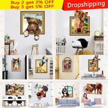 Cartoon DIY 3D Wall stickers For Kids Room Animal Picture Art Painting Nordic Poster Prints Pictures Home Decor
