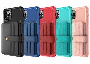 Image 5 - Iphone 11 pro x xr xs最大ケース、weforクレジットカード高級現金財布キックスタンドバックケースiphone 6 6s 7 8プラス電話カバー
