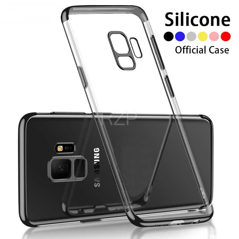 RZP Silicone Protective Case On The For Samsung Galaxy S20 S10 S9 S8 Plus A51 A71 A20 A30 A50 A80 A10 A70 Cover Bumper Bags Case