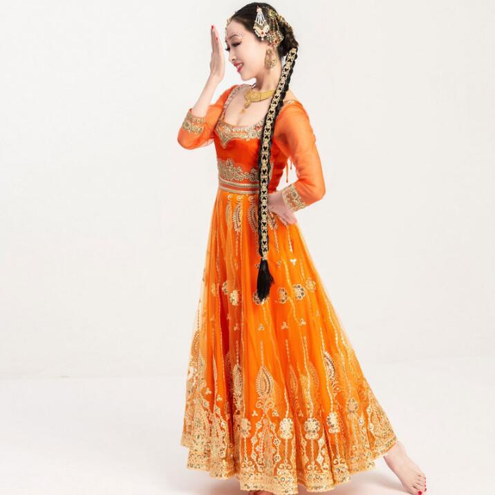 New Hand-made High Grade India Pakistan Sarees For Woman Salwar Kameez Dance Performance Dress Woman Beautiful Embroideried Sets