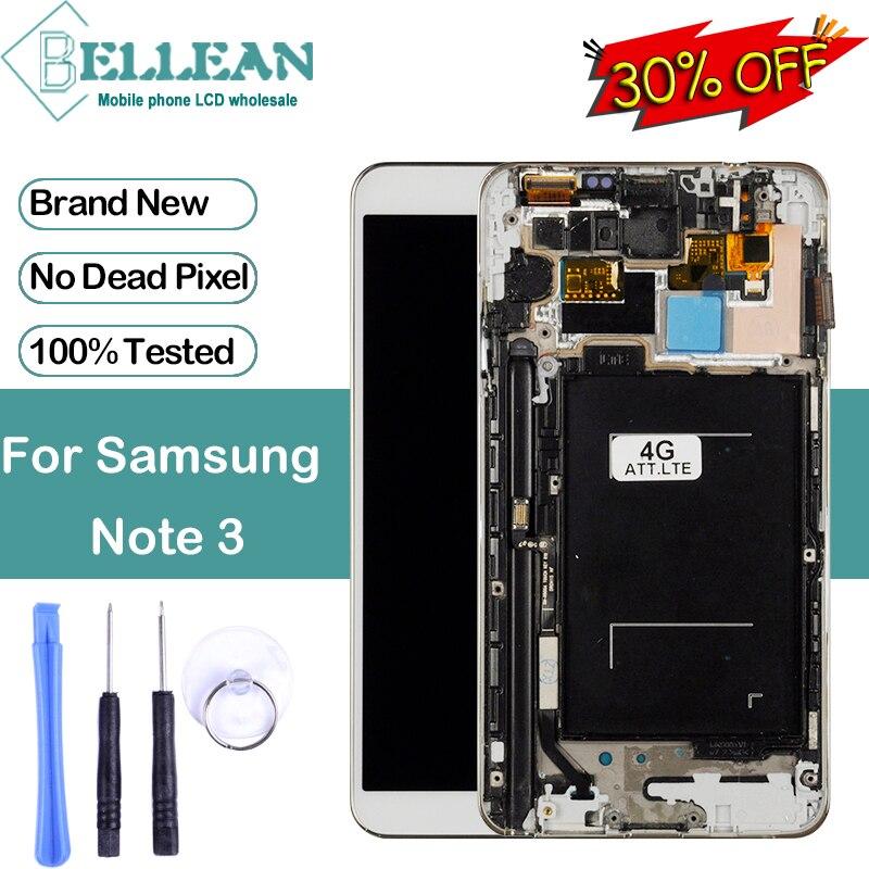 Promotion Dinamico 3G/4G LTE pour Samsung Galaxy Note 3 Lcd N9000 N9005 affichage avec écran tactile numériseur assemblée + cadre