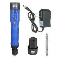 Destornillador eléctrico inalámbrico de 12V, herramienta eléctrica con 6 modos de torsión ajustables, recargable, para el hogar