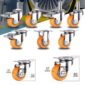 Image 4 - 4 個 1.5 インチ 38 ミリメートルヘビーデューティ 120 キロオレンジスイベルキャスター輪トロリー家具キャスターゴム