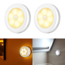 1/3/6Pcs Motion Sensor LED Night Light Wireless Magnetic Cabinet Light Battery Powered Closet Bedroom Wall Lamp Auto On/Off Lamp goodland magnetic motion sensor night light infrared pir led wall night light auto on off battery powered for cabinet corridors