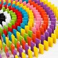 Деревянные блоки домино  строительные игрушки  наборы цветов  радужные домино игры  Обучающие деревянные блоки  игрушки для детей  подарки д...