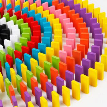 Drewniane klocki do gry w domino zabawki do budowania zestawy kolor sortuj Rainbow domino gry drewniane edukacyjne zabawki z klocków dla dzieci prezenty dla dzieci tanie i dobre opinie FoPcc 5-7 lat Dorośli 8 ~ 13 Lat Drewna Sport No eatting 120pcs 240pcs wooden Multi-Colorful domino Wooden domino toy