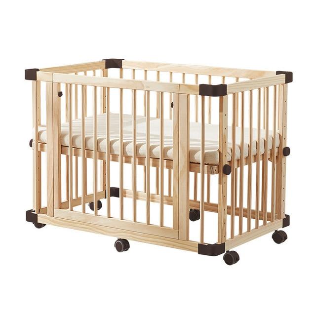 Solid Wood Baby Crib  5