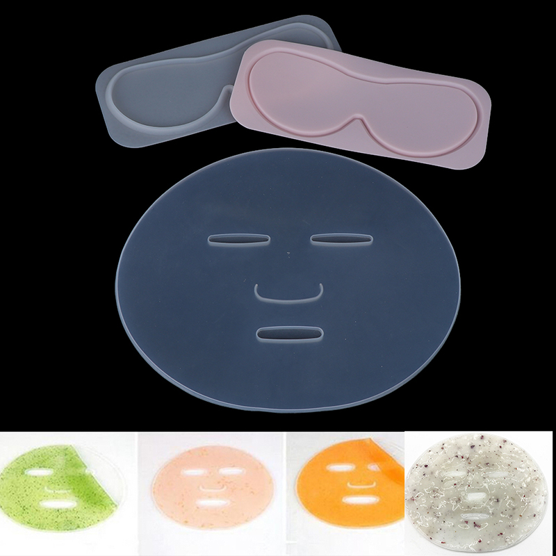 New Reuseable 1pcs Face Mask Mold For Fruit Vegetable Mask Machine Maker Clear Silicone Mask Mold Tray Mask DIY Making Tool