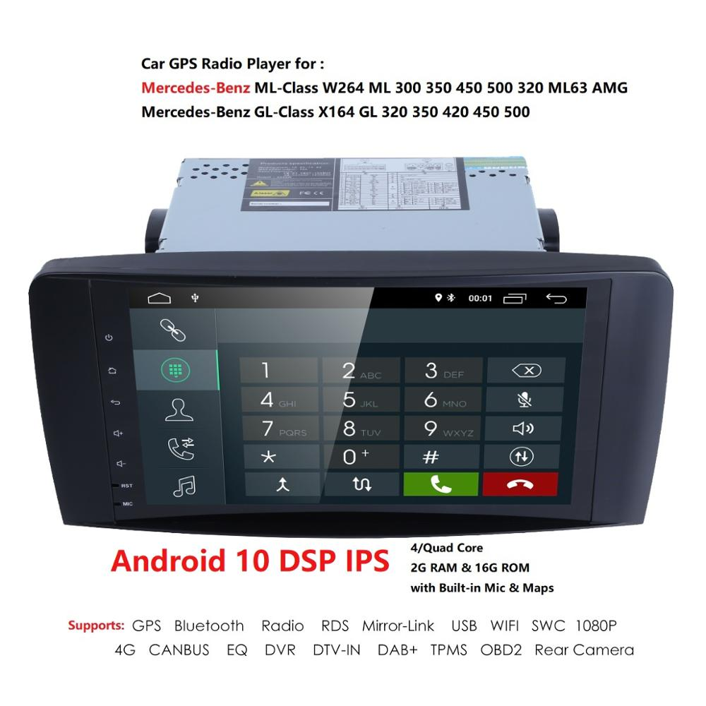2din Car Radio gps Android 10 NO-DVD Multimedia Player for <font><b>Mercedes</b></font> Benz <font><b>ML</b></font> <font><b>W164</b></font> ML300 GL X164 GL320 <font><b>350</b></font> 420 450 500 R W251280 image