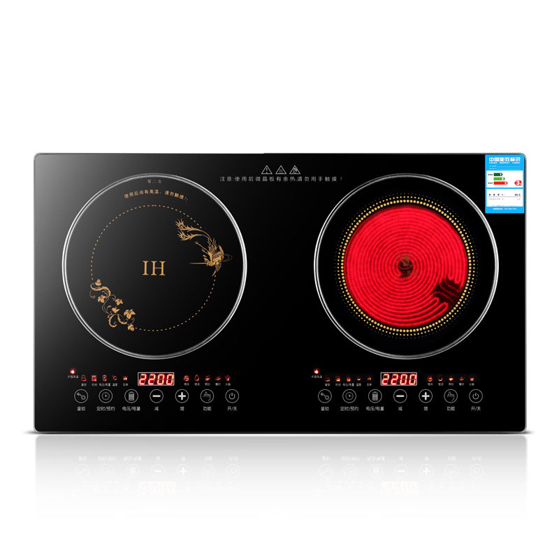 2200W Induction Cooker Household High-power Electric Ceramic Stove Embedded Double Stove Electromagnetic Stove Table