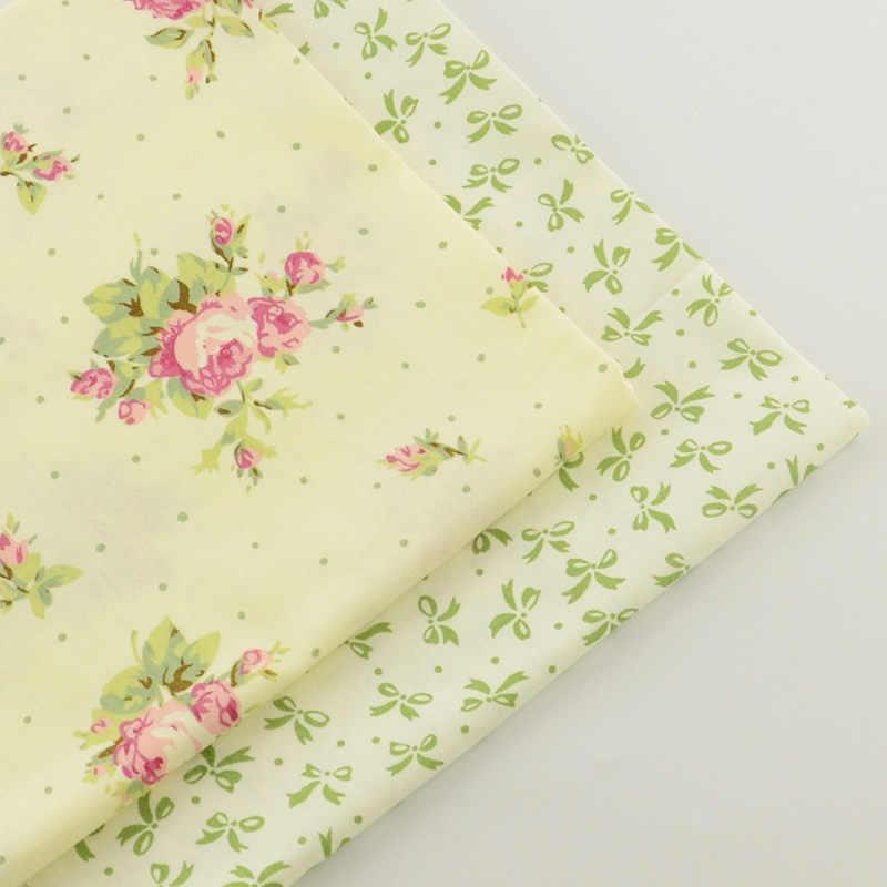Tela de algodón para costura de tela, tela rosa de cuadros de 40cm x 50cm, 2 piezas, tela de retazos, ropa de cama, textiles para el hogar