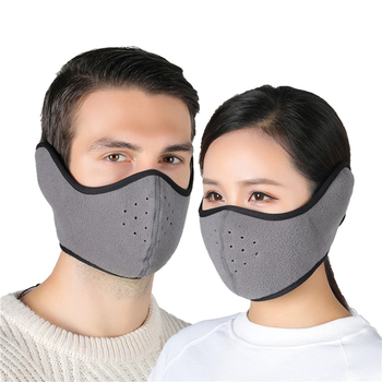 Adult Winter Warm Mask Fleece Earmuffs Riding Ski Snowboard Face Mask Windproof Outdoor Cycling Sports Mouth Masks for Lovers image
