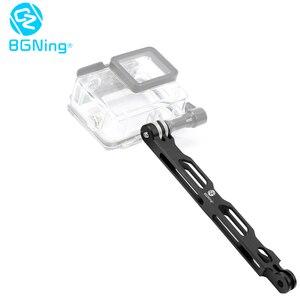Image 2 - BGNing Brazo de extensión para Selfie, aleación de aluminio, varilla alargada, soporte para casco para Gopro MAX 8 7 6 5 para Cámara de Acción insta360 One R X
