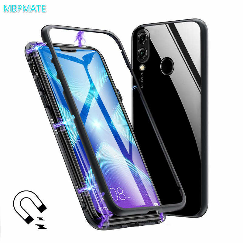360 Magnetic Adorption Metal Bumper Glass Case for Mi Xiaomi Redmi Note 5 6 Pro 6A Pocophone F1 8 SE A2 Tempered Glass Back Case