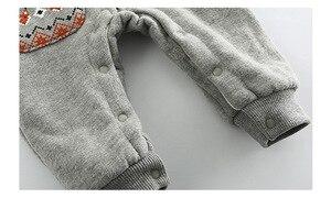 Image 5 - 아기 romper 신생아 가을 겨울 크리스마스 아기 옷 양털 아기 소녀 romper 면화 후드 아기 jumpsuit 소년 romper 점프 슈트