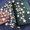 100pcs Mixed Mini Wooden Stars DIY Crafts Christmas Home Decorations Scrap booking Wood Buttons Party