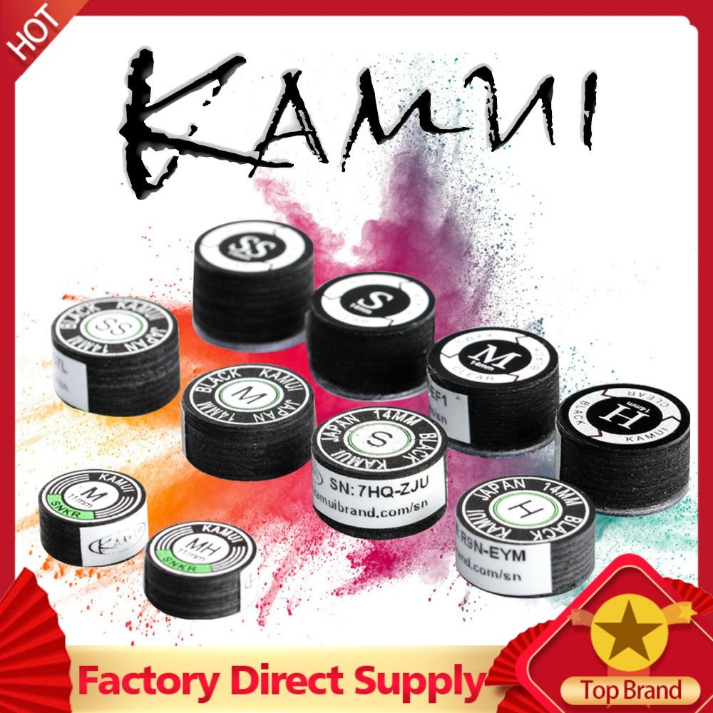 KAMUI Billiard Black Pool Cue Tip 14mm SS/S/M/H Snooker Tip Brown 11mm M/MH Billiard Accessories Japanese Original Import