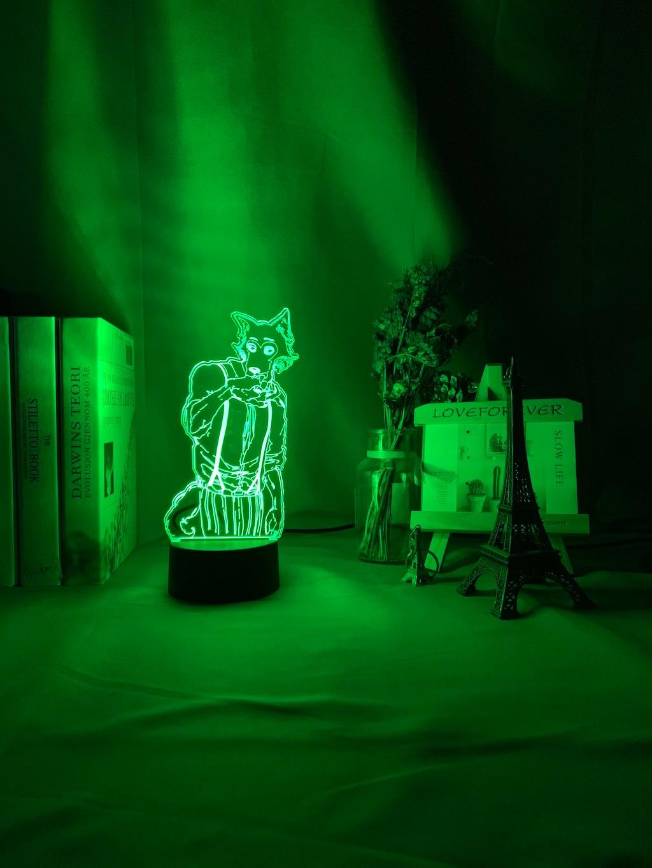 Hc3661006d4d140dd938f184a2bea81ff4 Luminária Beastars de mesa legosi acrílica 3d, luz noturna para decoração de quarto infantil, luz noturna para presente usb